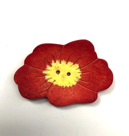 Renaissance Red Flower Button