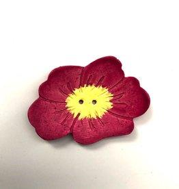 Renaissance Pink Flower Button