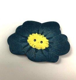 Renaissance Blue Flower Button