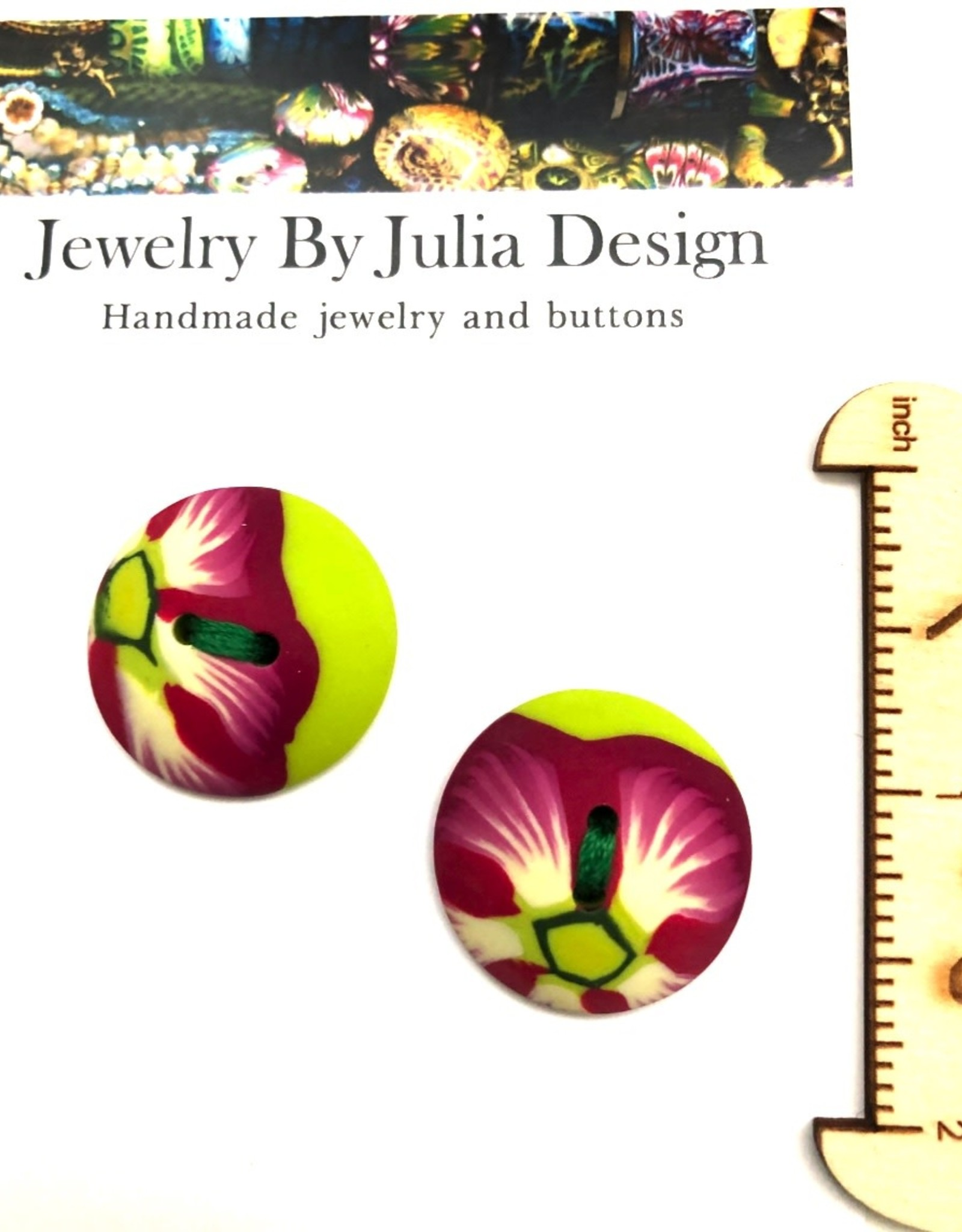 Jewelry by Julia Design Round Flower Button