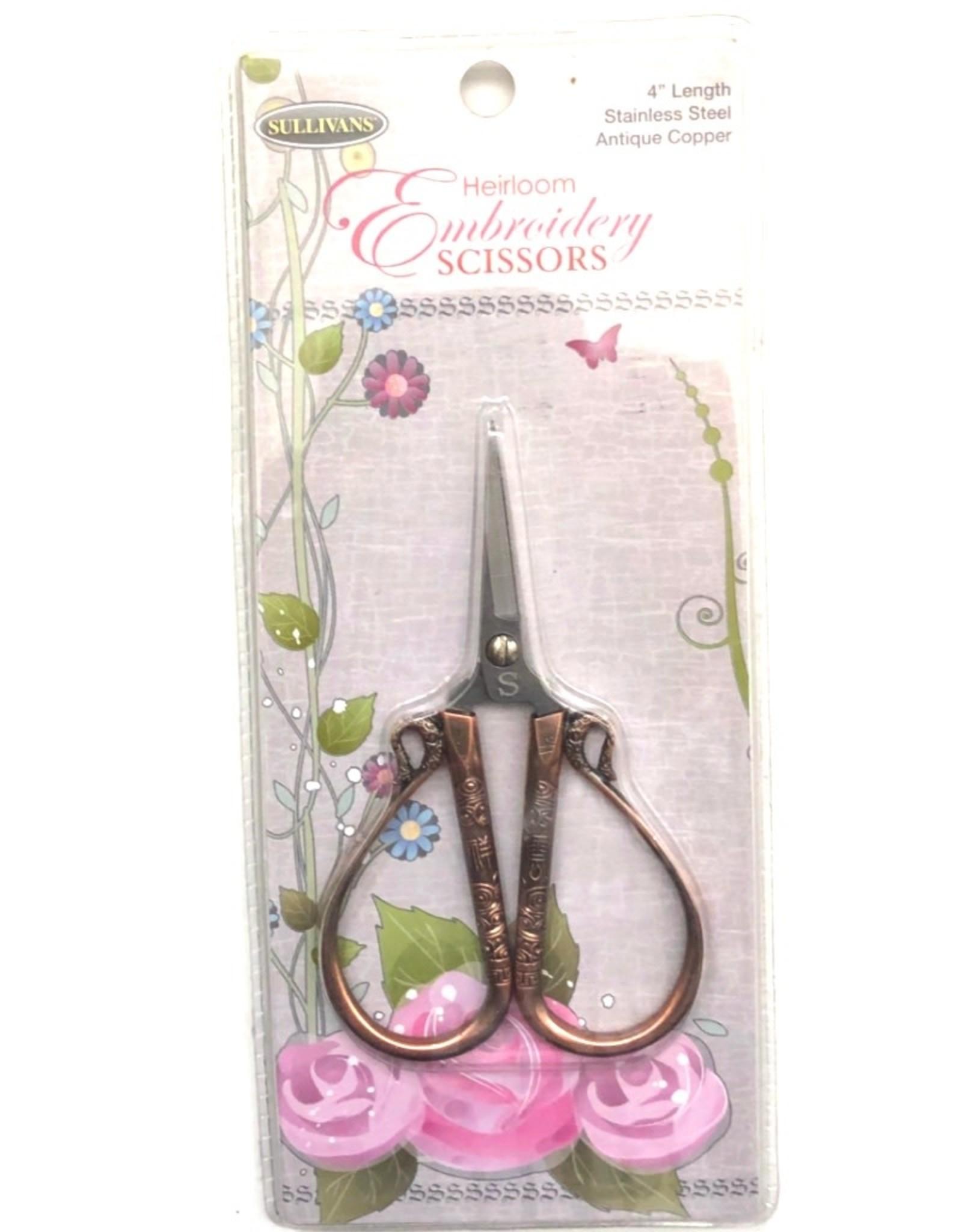 Sullivans Sullivans Embroidery Scissors- Antique Copper