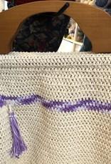 Ecru/purple Bag