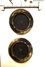 OOAK Vintage Buttons - Large Brown Buttons - 2 per card
