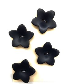 OOAK Vintage Buttons - Large Navy Star Buttons - 4 per card