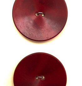 OOAK Vintage Buttons - Large Red Buttons - 2 buttons card