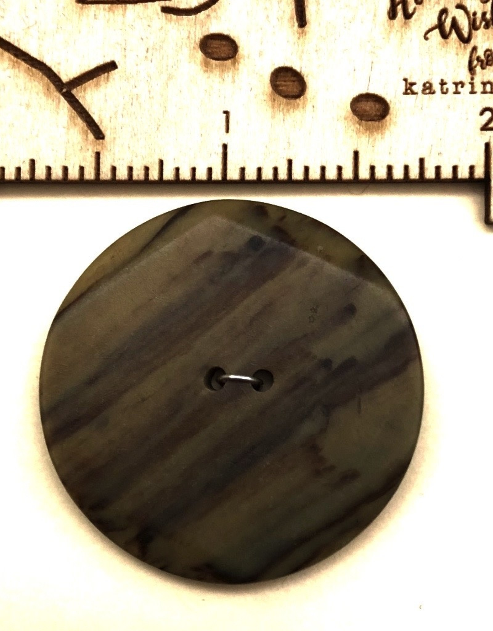 OOAK Vintage Buttons - Medium Wood Look Button - 1 per card