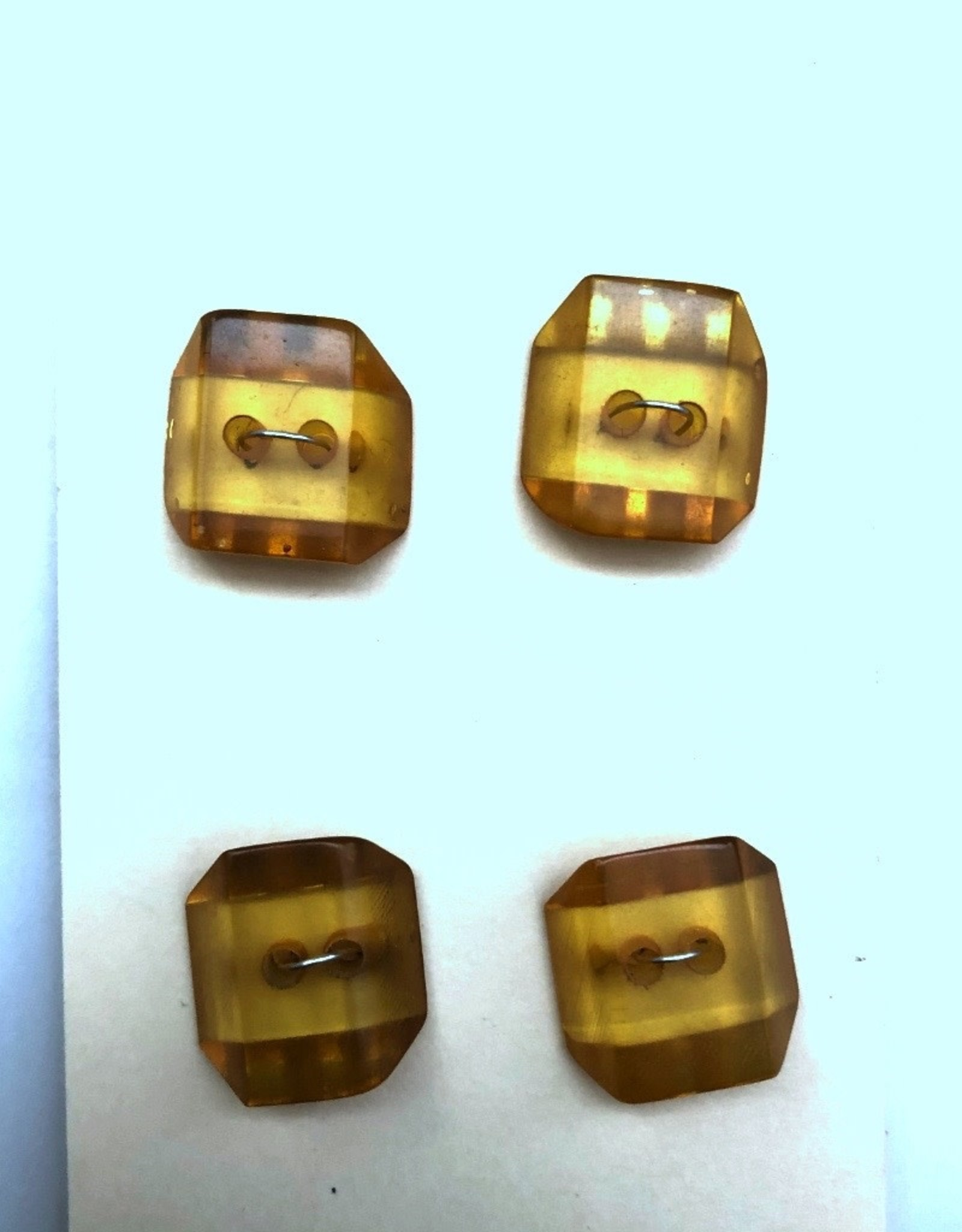 OOAK Vintage Buttons - Small Amber Buttons - 4 per card