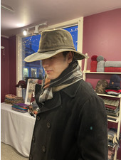 Distressed Waxcloth Booney Hat