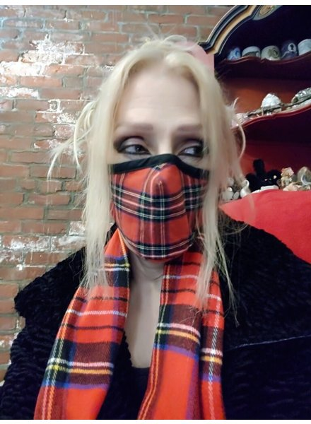Cabot Plaid Mask & Scarf