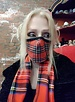 Cabot Plaid Mask & Scarf
