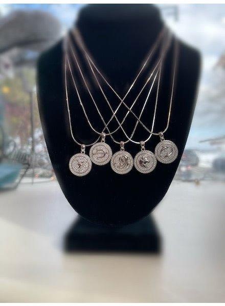 STR Zodiac Medallion Pendant