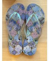 Pastel Tiles Flip Flops