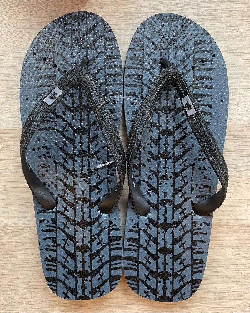 Tire Tracks Flip Flops