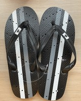 Black Athletic Flip Flops