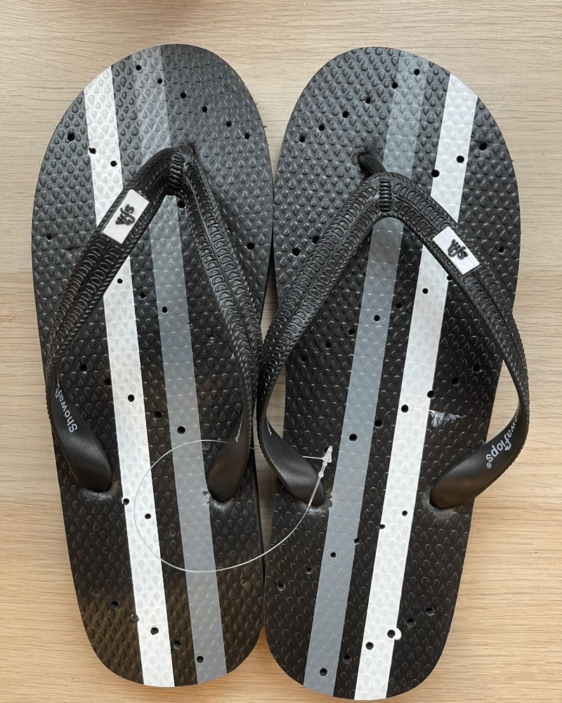 Black Athletic Flip Flops