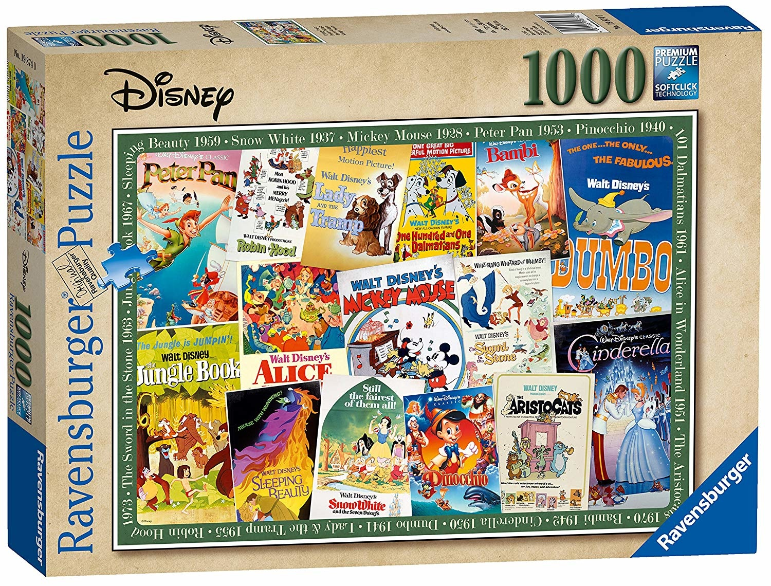 Ravensburger RV1000 DISNEY VINTAGE MOVIE POSTERS