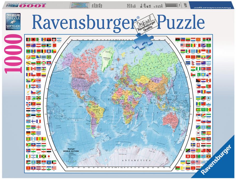Ravensburger RV1000 POLITICAL WORLD MAP