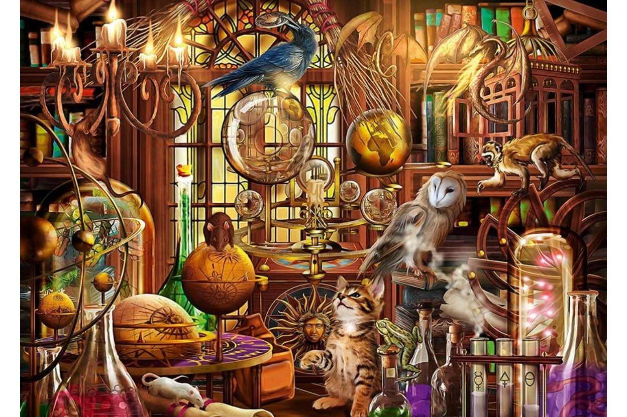 Ravensburger RV1000 THE MAGICIAN'S STUDY