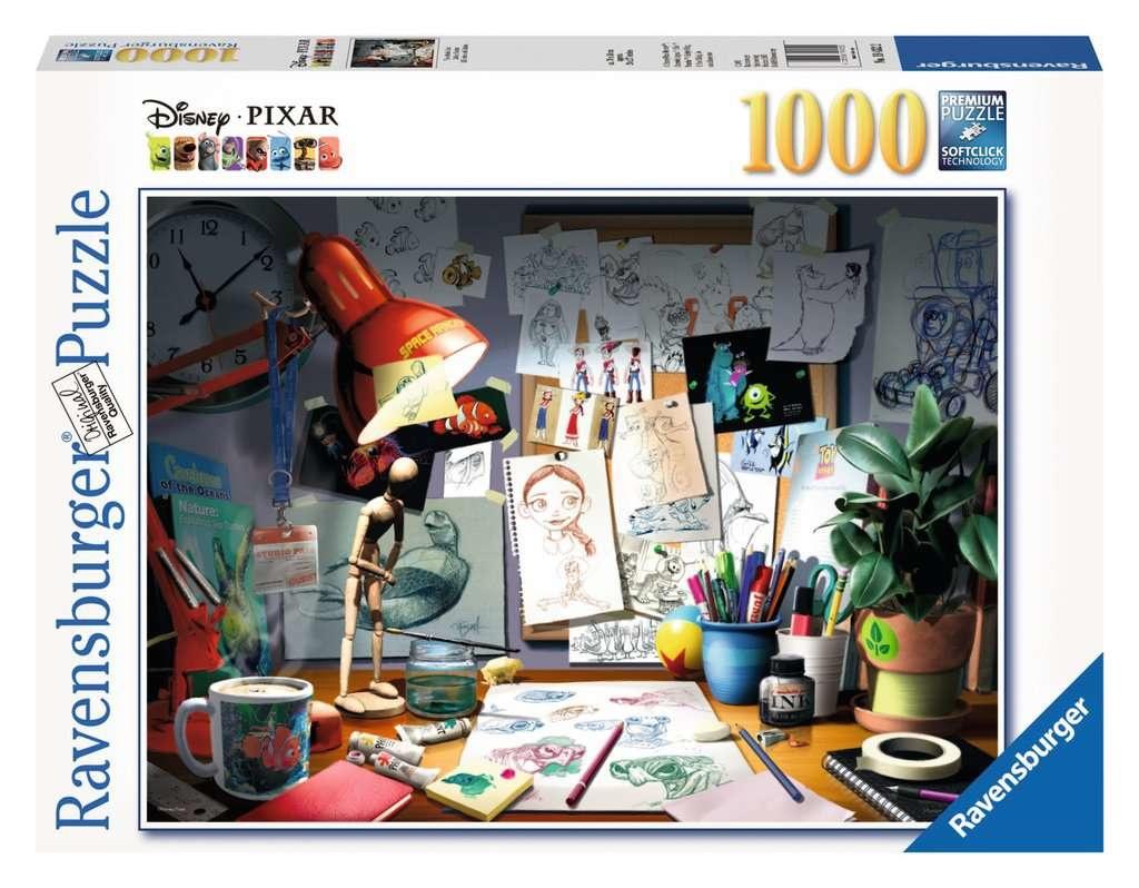 Ravensburger RV1000 DISNEY-PIXAR THE ARTIST'S DESK