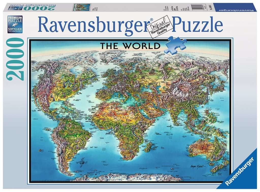 Ravensburger RV2000 WORLD MAP