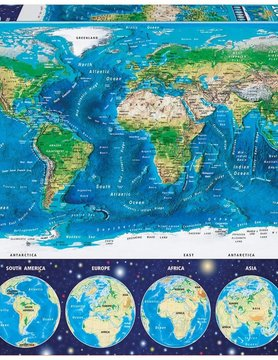 JOHN HANSEN COMPANY ED1000 NEON WORLD MAP (GLOW)