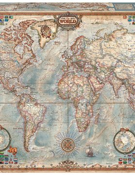JOHN HANSEN COMPANY ED4000 POLITICAL WORLD MAP