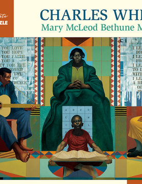 POMEGRANATE PM1000 WHITE MARY MCLEOD BETHUNE MURAL