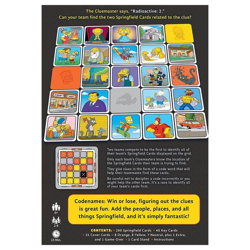 USA OPOLY CODENAMES SIMPSONS