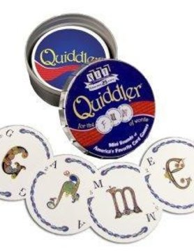 ZZSET ENTERPRISES QUIDDLER MINI ROUND TIN