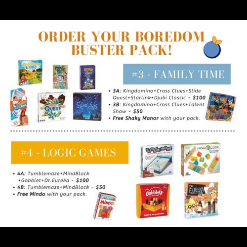 BLUE ORANGE BLUE ORANGE GAMES - BOREDOM BUSTERS