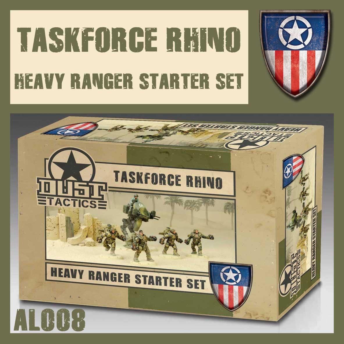 DUST USA DUST DROP-SHIP: Heavy Ranger Starter Set - Assault Force Rhino