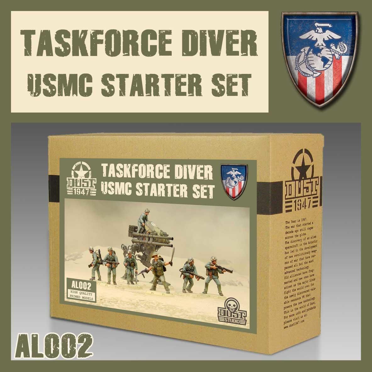 DUST USA DUST DROP-SHIP: USMC Starter Set - Taskforce Diver