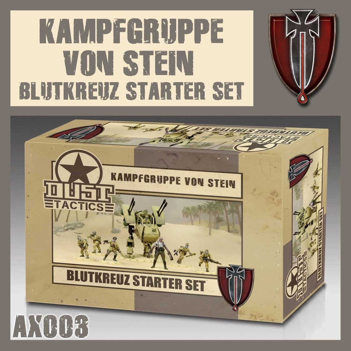 DUST USA DUST DROP-SHIP: Blutkreuz Starter Set - Kampfgruppe Von Stein