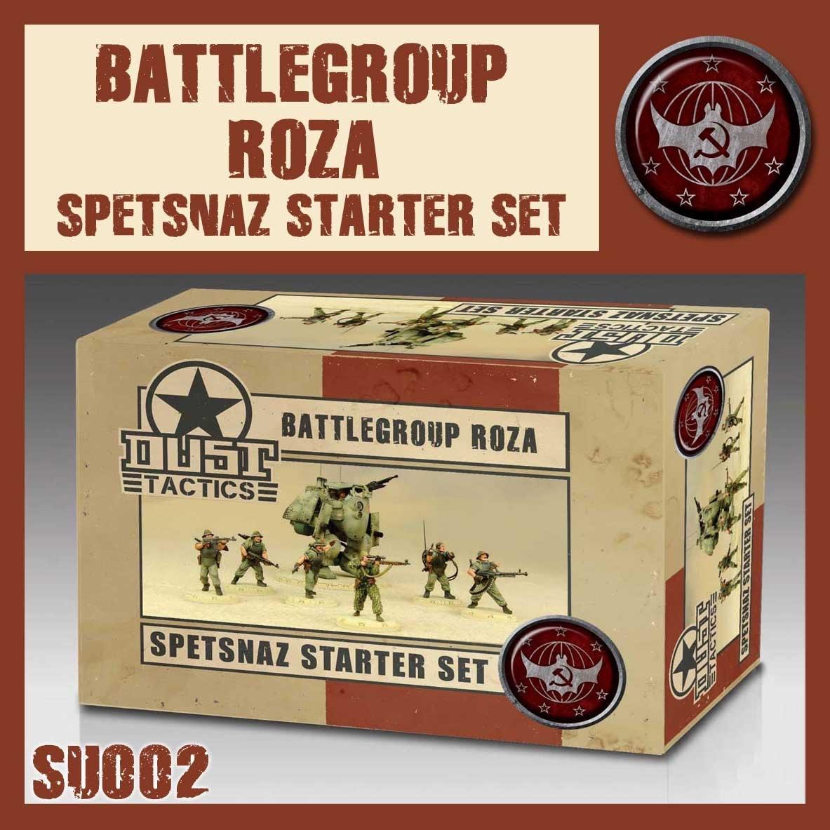 DUST USA DUST DROP-SHIP: Spetsnaz Starter Set - Battlegroup Roza
