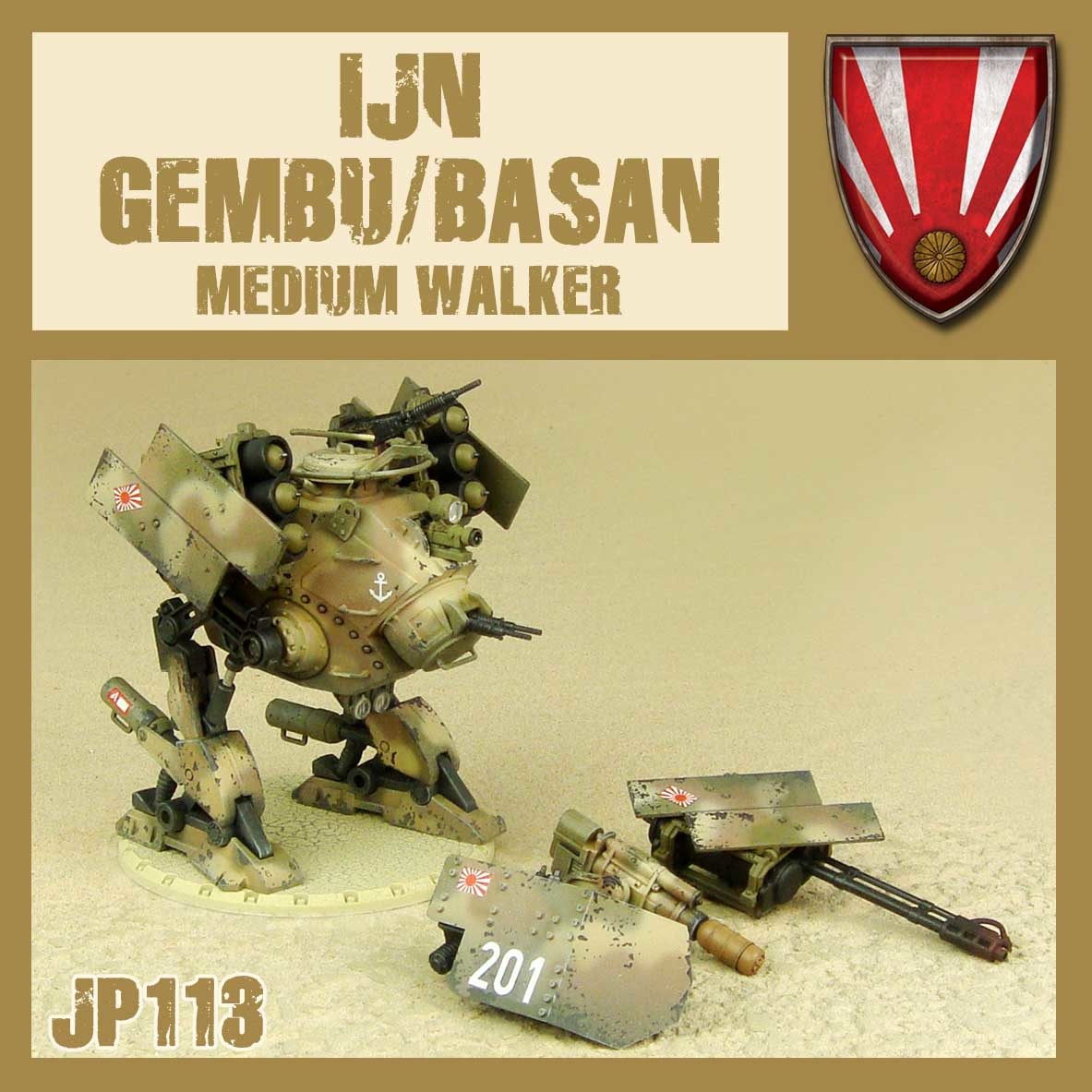 DUST USA DUST DROP-SHIP: IJN Gembu/Basan Medium walker (Rocket/Assault)