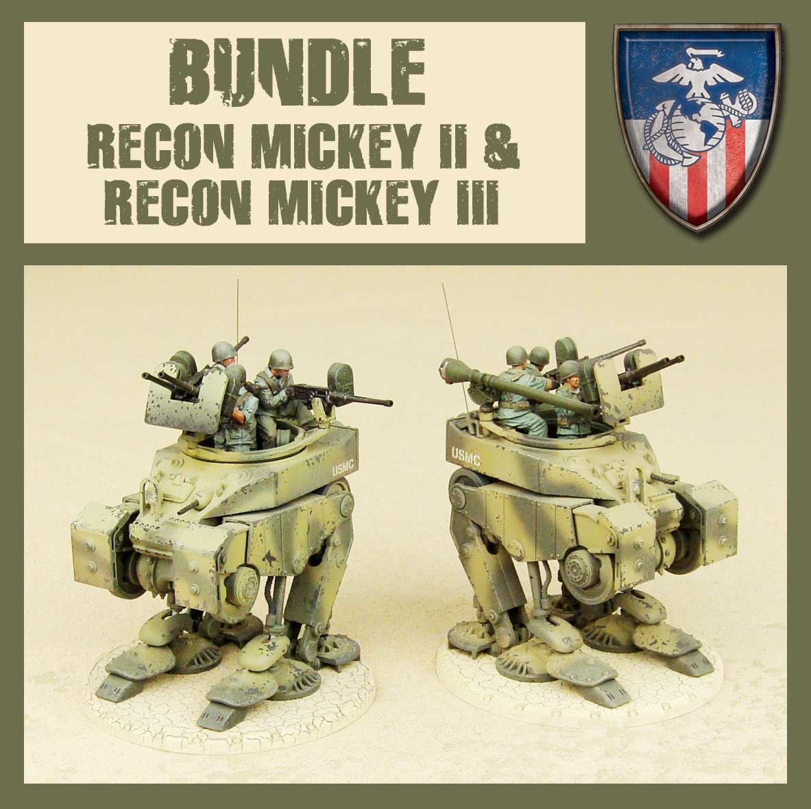 DUST USA DUST DROP-SHIP: Bundle Recon Mickey 2 + Recon Mickey 3