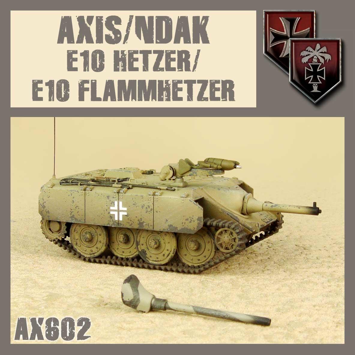 DUST USA DUST DROP-SHIP: Axis/NDAK E10 Hetzer/Flammhetzer