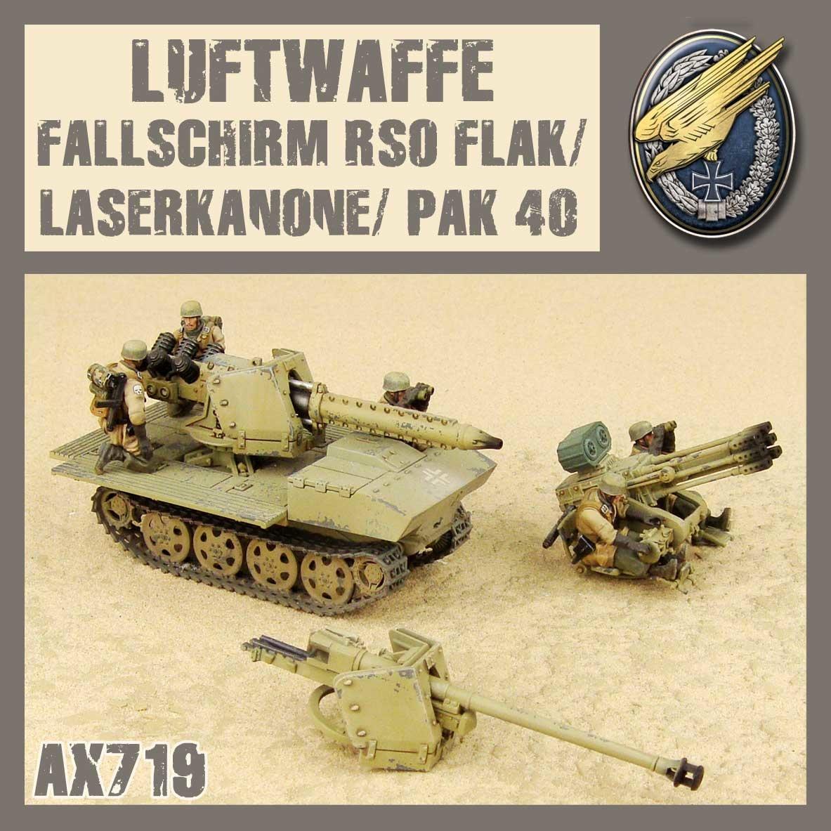 DUST USA DUST DROP-SHIP: Fallschirm RSO Flak3/Pak40/Laserkanone
