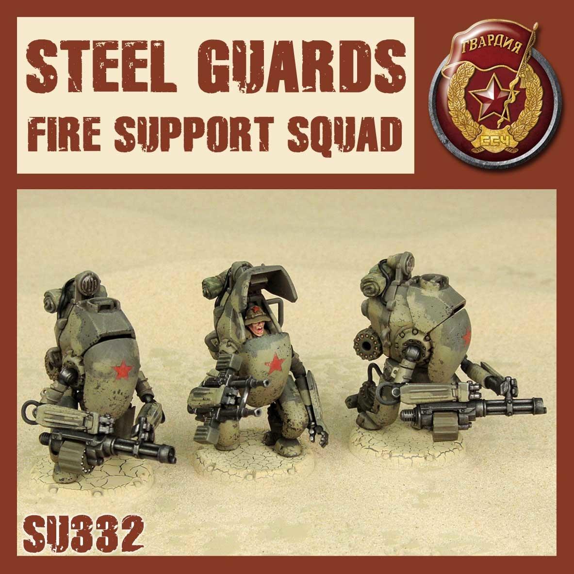 DUST USA DUST DROP-SHIP: Steel Guard Fire Support Squad (Steel Wall)