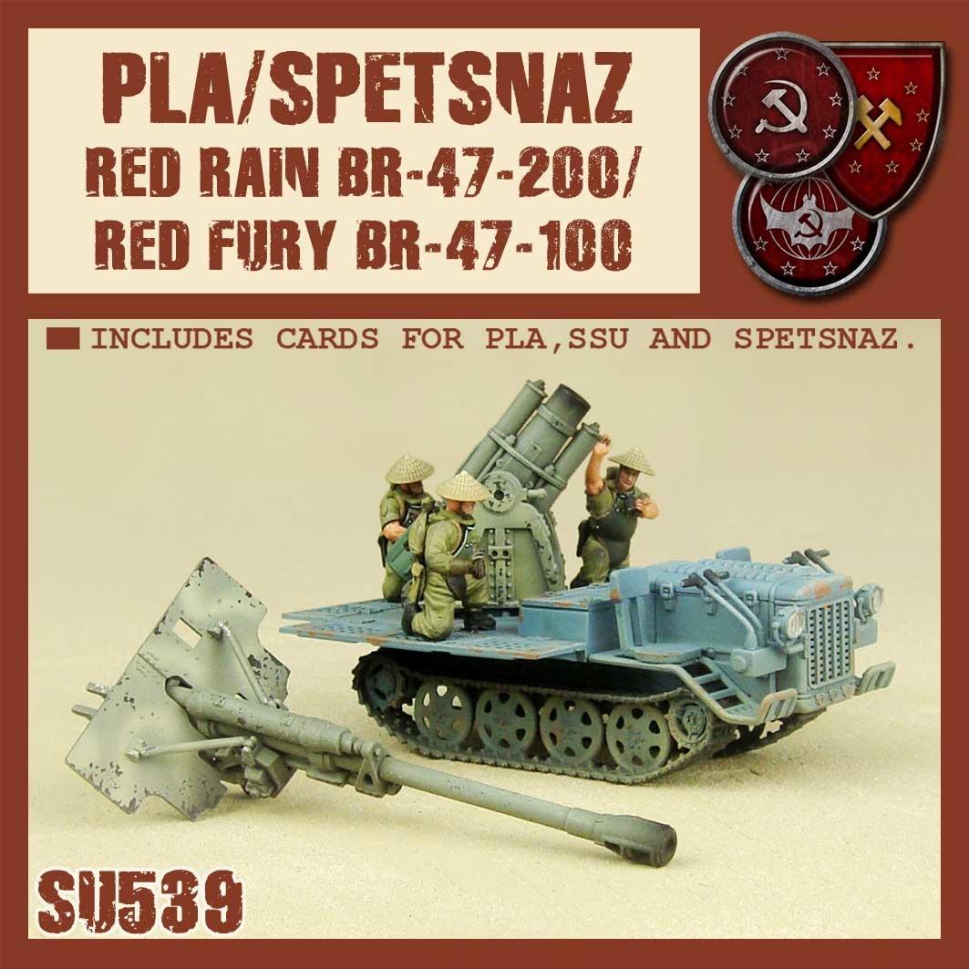 DUST USA DUST DROP-SHIP: Spetsnaz / PLA Red Rain / Red Fury