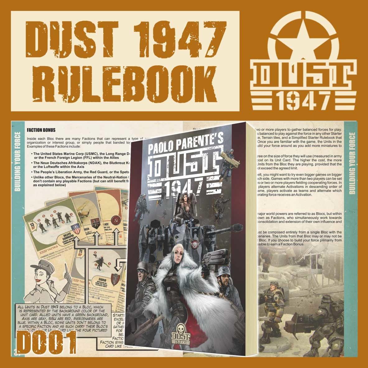 DUST USA DUST DROP-SHIP: Dust 1947 Rule Book