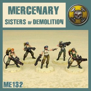 DUST USA DUST DROP-SHIP: Mercenary Cleaning Squad (Sisters of Demolition)