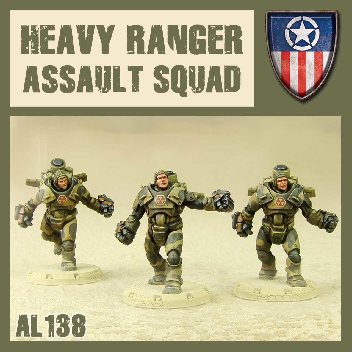 DUST USA DUST DROP-SHIP: Heavy Ranger Assault Squad