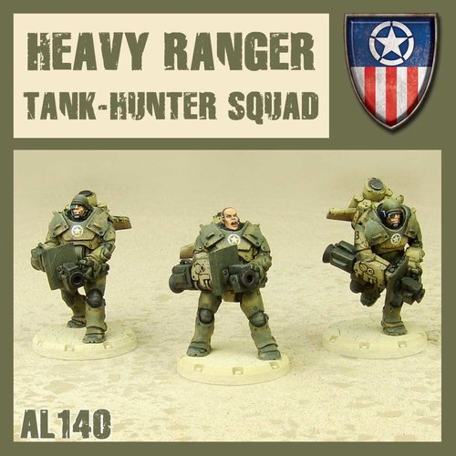 DUST USA DUST DROP-SHIP: Heavy Rangers Tank Hunter Squad (Tank Busters)