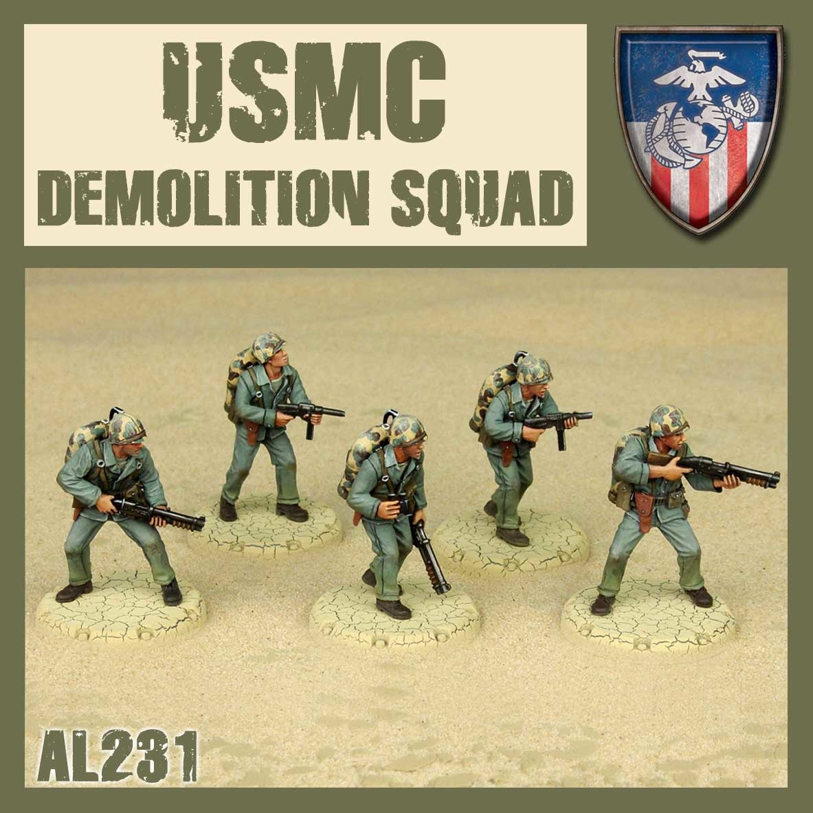 DUST USA DUST DROP-SHIP: USMC Demolition Squad (The Saints)
