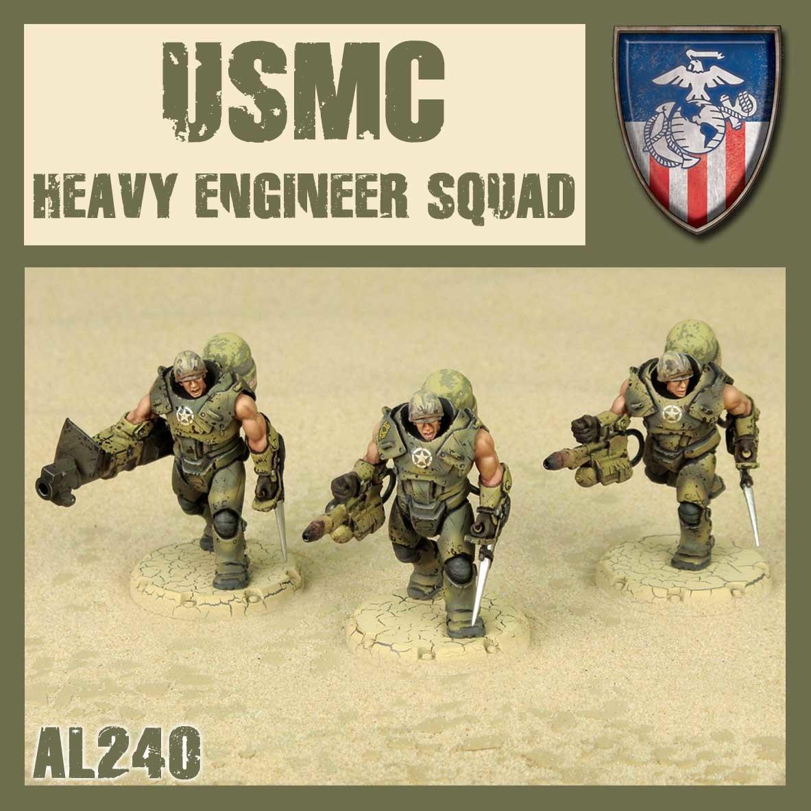 DUST USA DUST DROP-SHIP: USMC/Desert Scorpion Heavy Engineer Squad