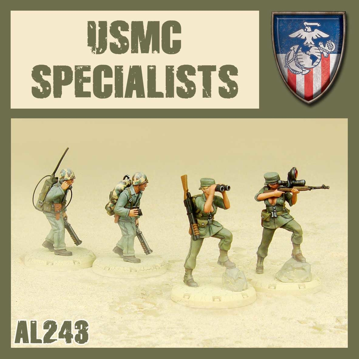 DUST USA DUST DROP-SHIP: USMC Specialists (Snipers+Observers)