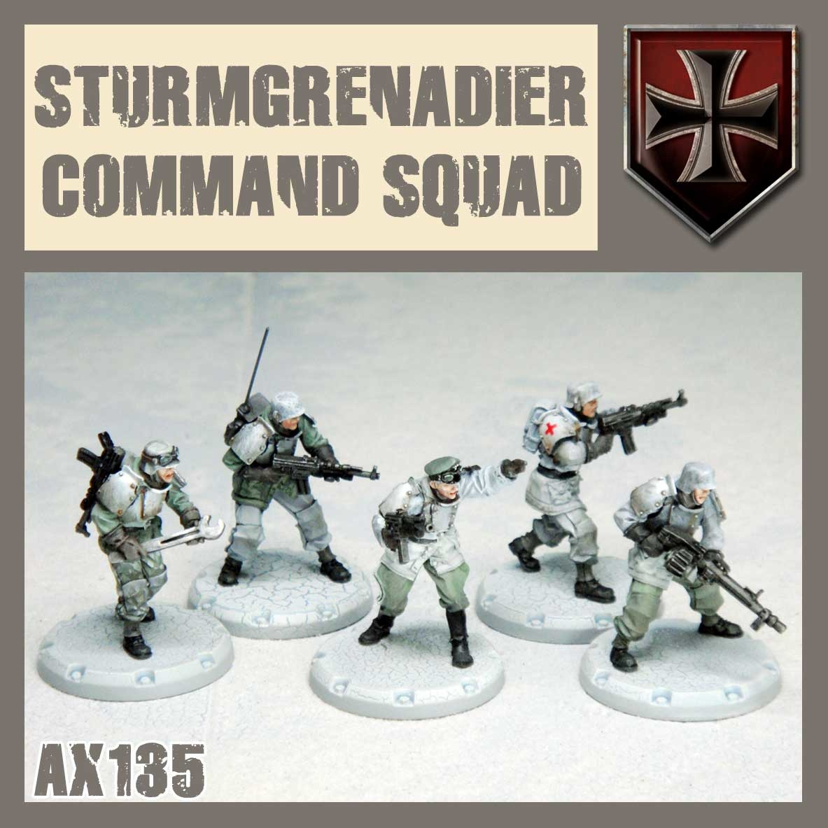 DUST USA DUST DROP-SHIP: Grenadier Command Squad (Old Man)