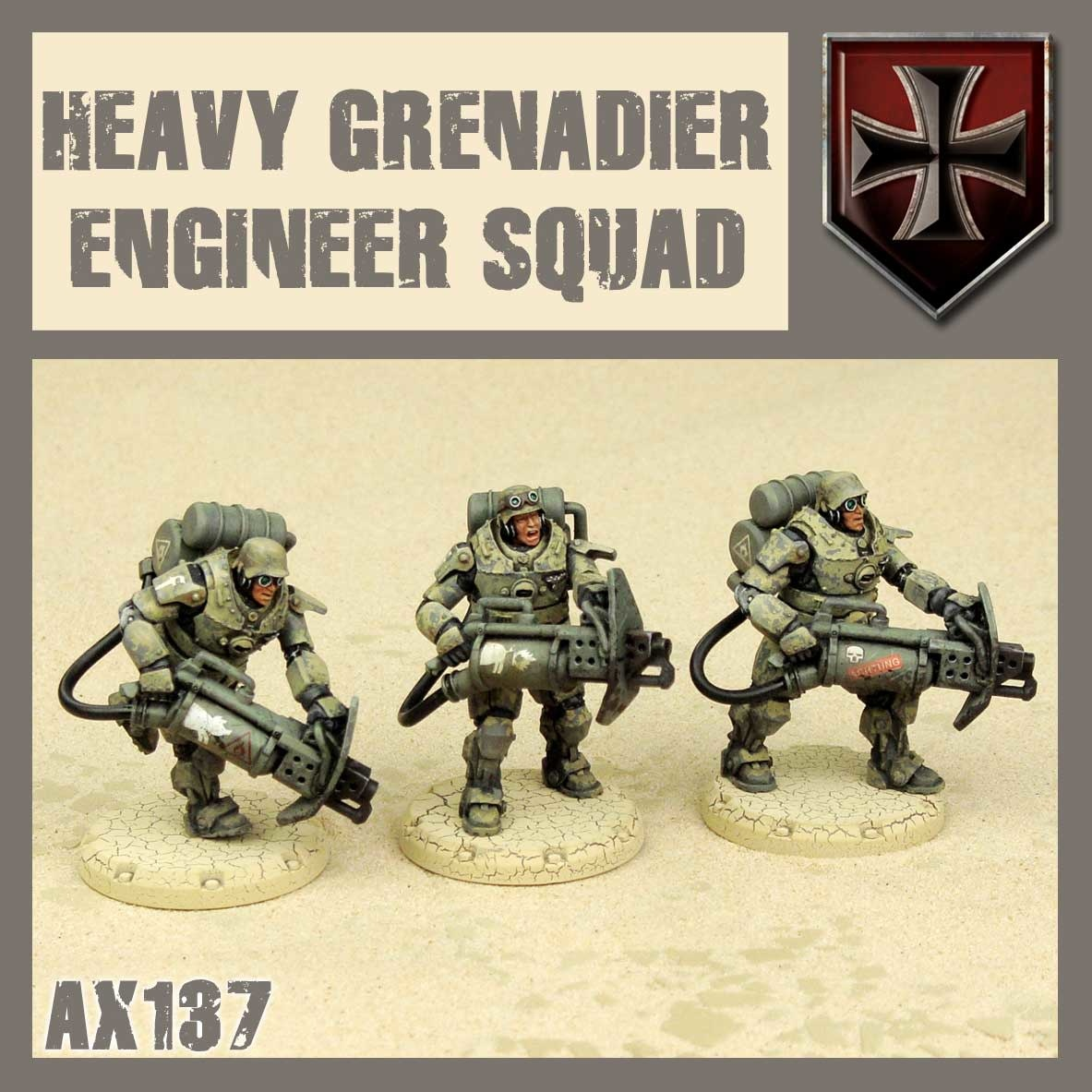 DUST USA DUST DROP-SHIP: Heavy Grenadier Engineer Squad