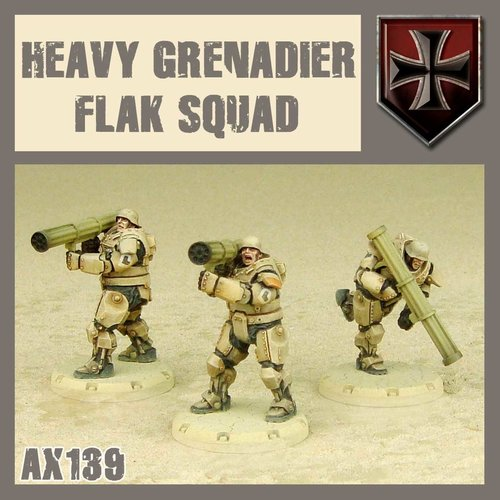 DUST USA DUST DROP-SHIP: Heavy Grenadier Anti-Aircraft Squad